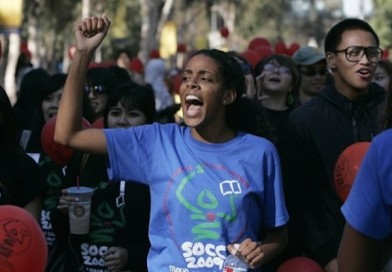 Fnann Keflezighi leads march against racism